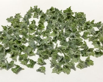 One Lot Tiny Flocked Leaves - Greenery, Artificial Leaves, Flower Crown
