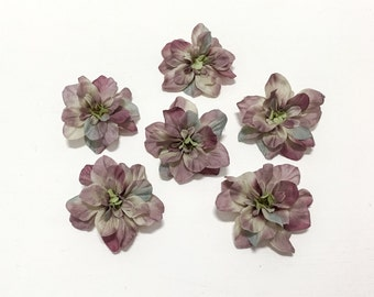 Mauve Gray Delphinium Blossoms - 2.5 Inches - Artificial Flowers, Silk Flowers, Flower Crown, Wedding
