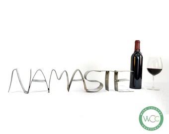 """RING ART - """"Namaste"""" - Wine Barrel Ring - 100% recycled"""