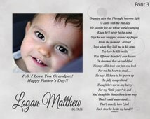 "Father's Day Gift For Grandpa  ""Grandpa Says"" Personalized Poetry Print-Gift For Papa from Granddaughter or Grandson-Custom Photo Print"