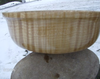 A stunning Fiddle back Maple Bowl