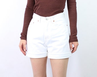 VINTAGE White Denim Shorts 1990s GAP Jeans