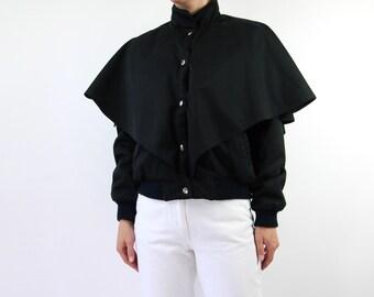 VINTAGE 1980s Black Jacket