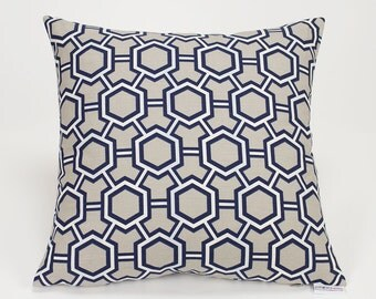 Kravet Courbet Storm Jonathan Adler Gray Geometric Throw Pillow Cover