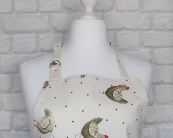 Chicken Chintz Adult Apron,Adjustable Apron, Kitchen, Cooking, Home, Apron, Chicken, Country, Fabric,