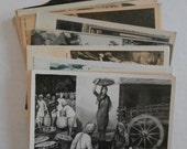 32 Foreign Vintage Postcards, Black and White, Blank, Artsy, Statues, People, Religion, Paintings