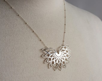 Sacred Geometry 3d Printed Necklace- Sterling Silver