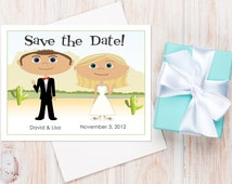 Desert Wedding Save the Dates — Available as Card or Magnet! Desert Wedding Ideas, Destination Wedding, Unique Wedding, Palm Springs Wedding