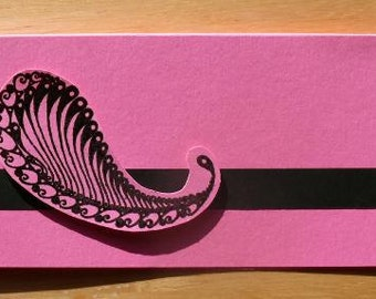 "Item 1110 ""Money Book"" Cover Pink and Black"