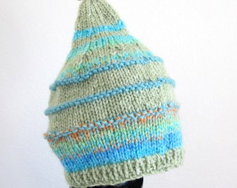 Winter Sale-Baby Pixie Hat Knit in Bright Colors