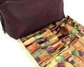 Large Make Up Bag / Large Makeup Bag / Large Cosmetic Bag / Purple Makeup Bag / Leather Makeup Bag / Leather Make Up Bag