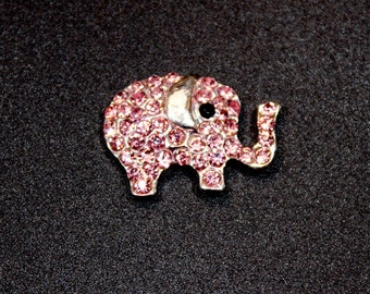 Pink Elephant Rhinestone Embellishment - Elephant Baby Shower - Flower Center - Flower Embellishment - Baby Shower Invitation