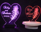 Centerpiece - Choose from Cake Topper Designs - Glow - Illuminated - Engraved acrylic - Personalized