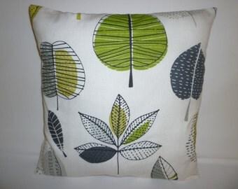 "BIG 20""  Cushion Pillow Cover Lime Green Gray Designer Cotton Pillowcase Sham Slip"