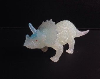 Triceratops Dinosaur Brooch Pin- Glow in the dark pin
