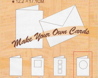 Circle Window Card Set  --  Cards and Envelopes  --   (10 pieces) --   NEW  --   (#1612)