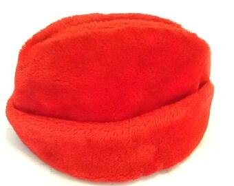 Vintage Men's Winter Hat Winter Cap Red