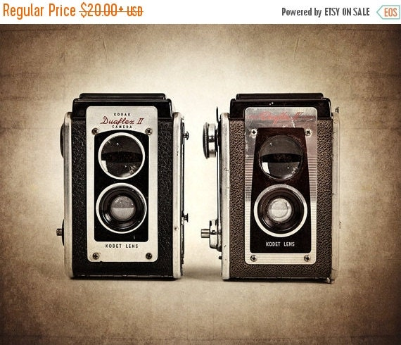 CHRISTMAS in JULY SALE Vintage Dual Kodak DuaFlexes Photographic Art Print, Wall Art for Home decor, 12 Sizes Available from Prints to Mount