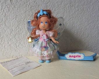 My Little Angel Angela The Nursery Angel Doll with Teddy Bear Charm, ERTL  1993
