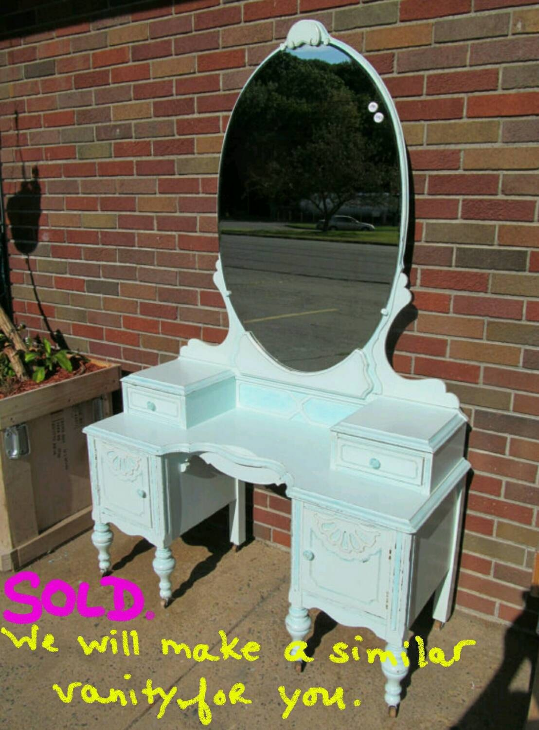 Circa 20s antique turquoise vanity salvaged shabby chic zoom geotapseo Images
