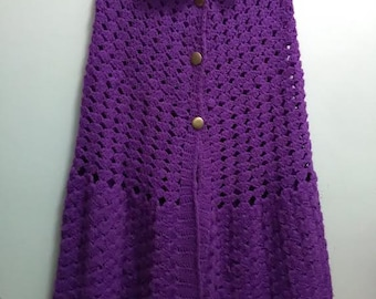 Gorgeous Vintage 1960's - Crocheted  Cotton Cape Poncho -(available)