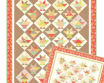 Strawberry Fields Revisited - Laundry Baskets Quilt Pattern by Fig Tree & Co