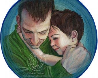 """Sticker - """"Fatherhood"""" Mandala"""