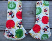 Disney Christmas, Fabric Curved Suck Pads, Ready to Ship