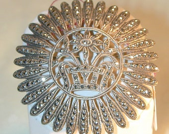 Art Deco Sterling & Marcasite Brooch