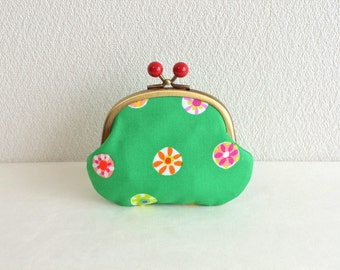 Frame purse - retro floral Candy coin purse in Green