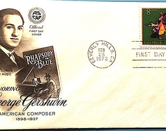 USPS First Day of Issue Cover George Gershwin