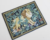 Miniature Lion Rug or Tapestry William Morris One Twelfth Scale