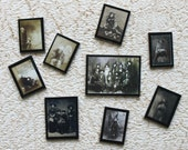 1:12 scale set of photographs ghosts witches fortune tellers for dollhouse