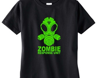 Black Zombie Response Unit Toddler Tee