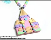 Pastel Candy Castle Necklace, Princess, Hime, Hime-Kei, Fairy-Kei, Original Design