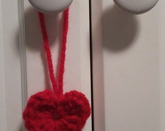 20 crocheted red hearts valentine's day gift tags love wedding bridal baby shower