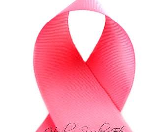 Fantasy Rose 3 inch ribbon - Basic Pink, Light Pink, Pink Ribbon By The Yard, Pink Grosgrain Ribbon - Hairbow Supplies, Etc.