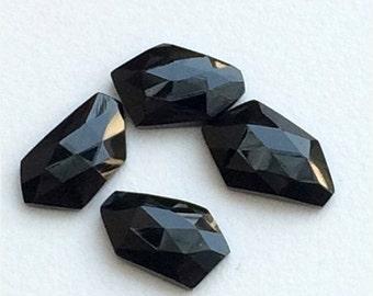 55% ON SALE WHOLESALE 10 Pieces, Black Onyx Cabochon, Rose Cut Gemstones, Flat Back Cabochons, Black Onyx Ring, Fancy Cut Cabochons, 13-15mm