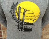 Wisconsin birch trees screen print ultra soft sweatshirt