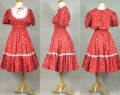 60s Rockabilly Dress/ Vintage 1960s Partners Please Dress / Vintage 1960s Rockabilly Dress / Vintage 1960s Square Dance Dress