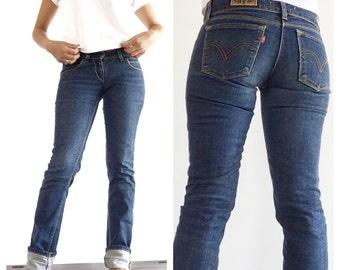 Fabulous Levis 507 vintage jeans W 27 L 40 - Levis vintage slim fit jeans - vintage Levi's womens blue jeans - Levi's jeans women's small