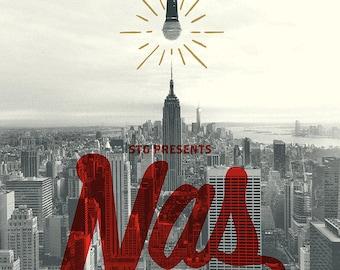NAS screenprinted concert poster