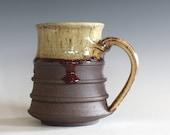 Ceramic Mug, 14 oz, handmade ceramic cup, handthrown mug, ceramic stoneware, pottery mug, unique coffee mug, ceramics and pottery