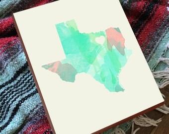 Dallas Map - Dallas Print - Dallas Art - Dallas Wall Art - Wood Block Art Print