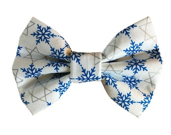 Snowflake Star of David Dog + Cat Bowtie