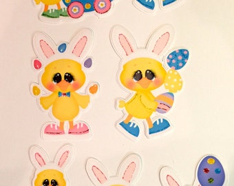 Easter Ducklings diecuts