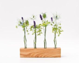 Wood Vase Decorative Bud Vase Wedding Vase FLORENCE