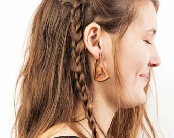 Free Spirit Wooden Earrings