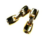 Fold over clasps gold tone 2pcs