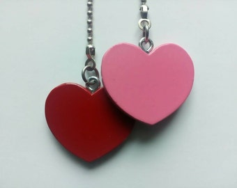 Red and Pink Heart Ceiling Fan Pull Chain Set
